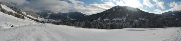 Bergpanorama Balderschwang im Allgäu