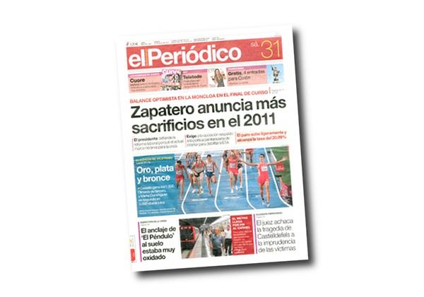 El Periódico - 1500m Männer EM Barcelona