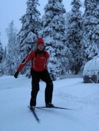 Statt Training am Strand standen Langläufe auf Skiern für Carsten Schlangen und Co. auf dem Programm