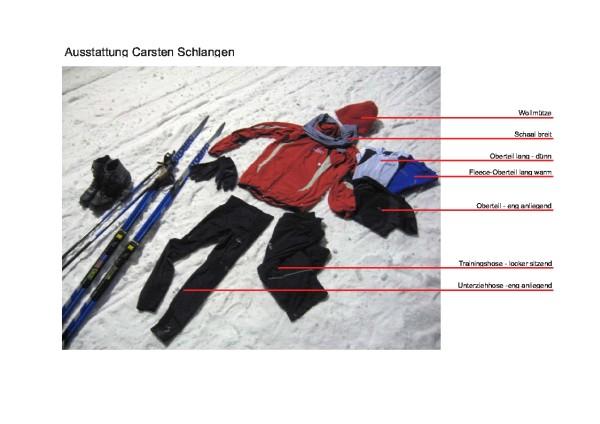Ausstattung Skilanglauf Carsten Schlangen