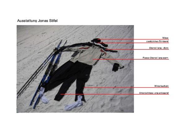 Ausstattung Skilanglauf Jonas Stifel