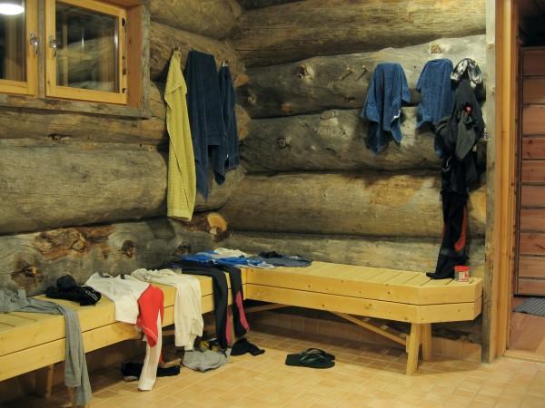 Blockhütte in Ruka (Finnland)