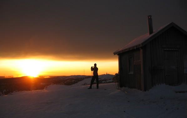 Gipfel Valtavaara Nationalpark - Sonnenuntergang