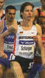 Carsten Schlangen Vorlauf Hallen WM-Valencia 2008 - Foto: DPA