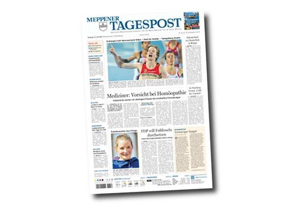 Schlangen holt überraschend Silber - Frontseite Meppener Tagespost