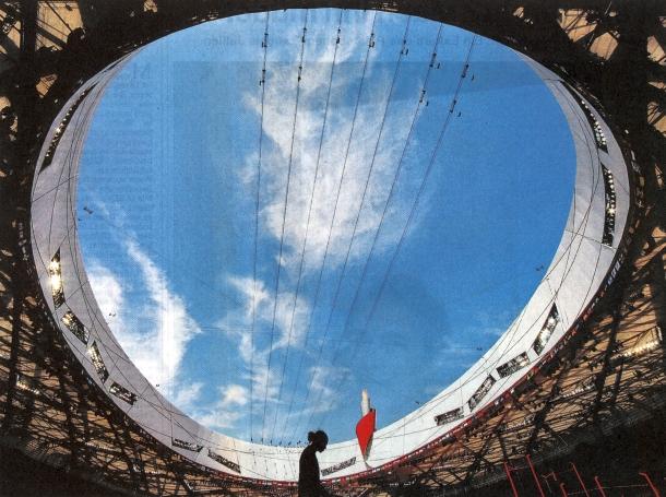 Die Wirklichkeit im Traumland - Ein Beitrag der Süddeutschen zur Leichtathletik Olympia 2008 Bild: Getty